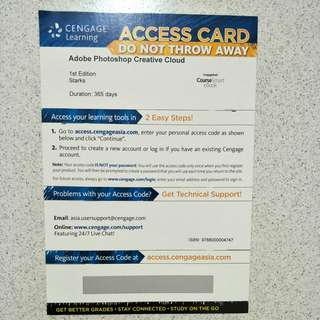 Ngee Ann Polytechnic Adobe Photoshop Ebook Access Card Brand New
