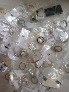 Rings / earrings clearance