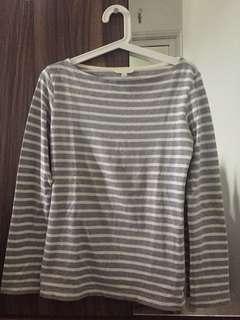 UNIQLO - Long Sleeve Stripe Shirt