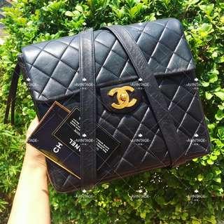 (SOLD)Chanel Vintage 黑色羊皮 Backpack 背囊