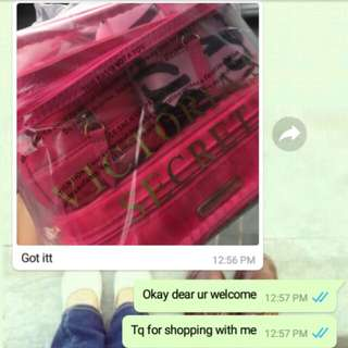 FEEDBACK CUSTOMER !! VS MAKEUP BAG