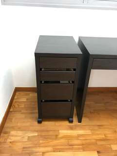 Drawer unit on castors can be attached with Study Table