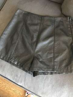 Top shop leather shorts