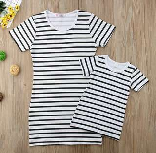 🍀Family Matching Mother and Daughter Striped Casual Dress 2pcs Set🍀