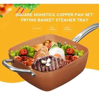 Nonstick Copper Pan Set