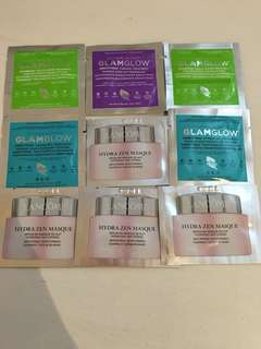 Glamglow, Lancôme Face mask samples