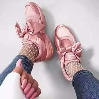 Puma Fenty x Rihanna Bow Sneaker Silver Pink