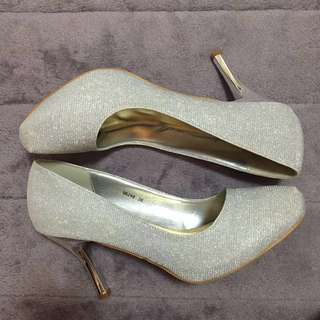 """DMK Glittery Wedding Shoes 3"""" With Platform Front"""