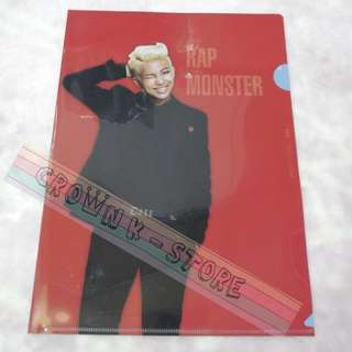 [RARE][READY STOCK]BTS KOREA 2014 LIVE TRILOGY EPISOD 2<THE RED BULLET> OFFICIAL A4 SIZES CLEAR FILE - RAP MONSTER !NEW! OFFICIAL ORIGINAL FROM KOREA (PRICE NOT INCLUDE POSTAGE)POSSIBLE SMALL SCRATCH ON FILE.PERFECTION BUYER PLS DO NOT PURCHASE