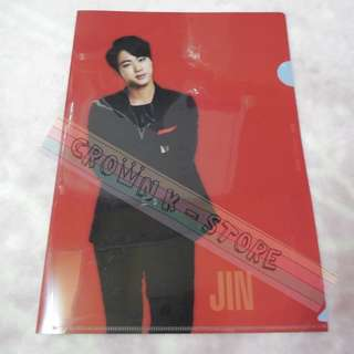 [RARE][READY STOCK]BTS KOREA 2014 LIVE TRILOGY EPISOD 2<THE RED BULLET> OFFICIAL A4 SIZES CLEAR FILE - JIN !NEW! OFFICIAL ORIGINAL FROM KOREA (PRICE NOT INCLUDE POSTAGE)POSSIBLE SMALL SCRATCH ON FILE.PERFECTION BUYER PLS DO NOT PURCHASE