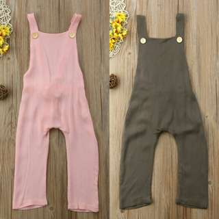 🍀Baby Girl Sleeveless Backless Casual Jumpsuit🍀