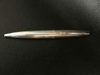 dunhill silver rollerball pen