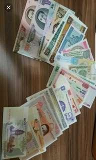大平賣 全新34張世界各地紙幣