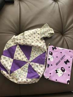 Handmade pouch and purse