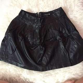 Forever 21 Leather Bloom Skirt