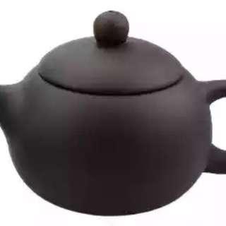Kungfu Tea Handmade Yixing Zisha Clay Black Xishi Teapot 150ml