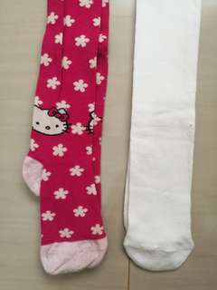 Hello Kitty and White Sock Pants with Black Thick Pants