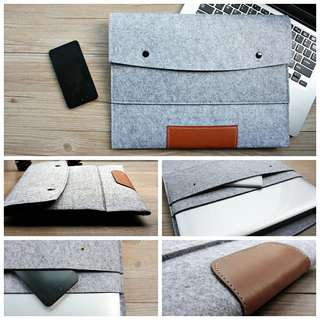 Laptop sleeve 11,13,15,17 17.3 inch Wool Felt Hand Hold Notebook Laptop Sleeve Bag Case Carrying Handle Cover For Macbook Air/Pro/Retina
