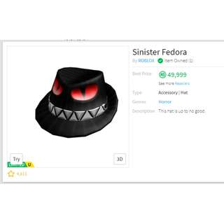 Roblox Sinister Fedora