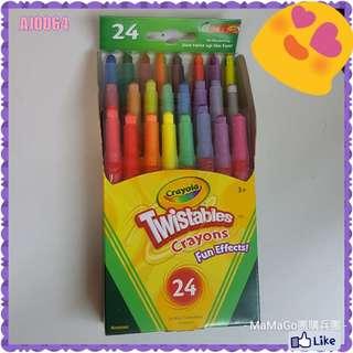 🇺🇸美國Crayola扭扭蠟筆 - 24色 (金屬色 / 彩虹色系列)👍AJ0064【現貨】