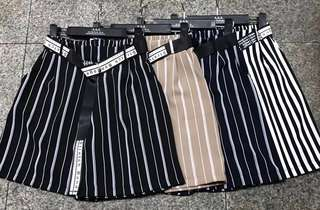 Stripe pants outfit female