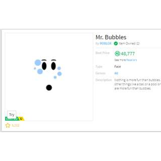 Roblox Mr. Bubbles