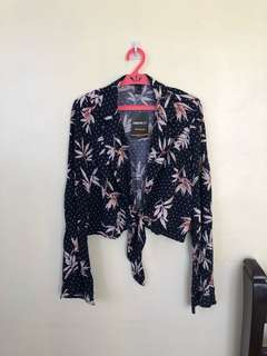 Forever21 tie front top
