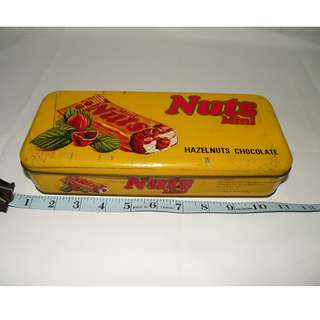 Hazelnuts 復古 早期金屬製巧克力 餅乾盒 (二手)
