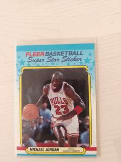 NBA 90s Fleer Card - Michael Jordan