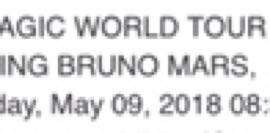 Bruno mars ticket (rm888) x 2 category 1