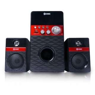 Speaker Aktif GMC 888R (USB, MMC, Remote, FM Radio)