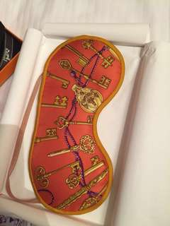EXCLUSIVE BNIB  eye mask only from Hermes store in Paris - Masque de nuit soie  (with box & copy receipt)