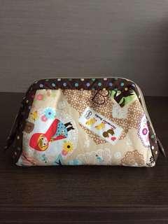 Handmade cosmetics pouch