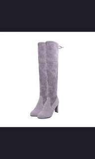 Over the knee boots grey US 6 4cm heels