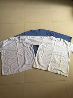 Inner wear Long sleeve tee shirt blue white