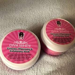 Diva White Extreme Whitening and Exfoliating Mask