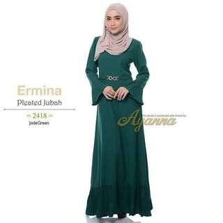 ERMINA PLEATED JUBAH (code 2418)