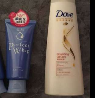 FREE facial cleanser and shampoo