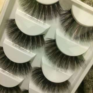 Fluffy fake eyelashes