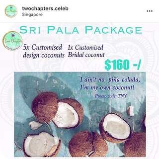 Traditional Bridal coconuts