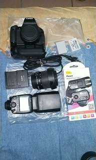 Canon 600d + battery grip +rowa 600exrt+ pawn pixel trigger/ receiver