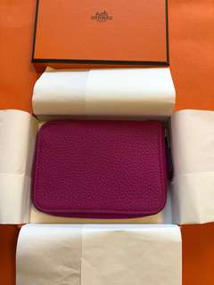 BNIB Hermes Azap Mini Veau Togo Wallet (with box & copy receipt)