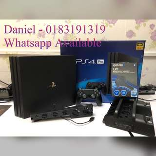 Sony Playstation 4 Pro 1 TB ( 2 Years and 3 Months Warranty )