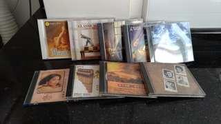 9 CDs for $5...Music...instrumentals...Mozart...guitar...pan flute...symphony etc