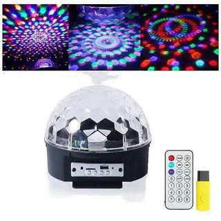 Disco light with usb and remote