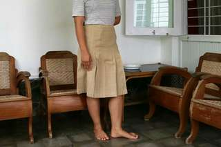 Brown Office Skirt