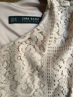 Zara basic dress nude colour