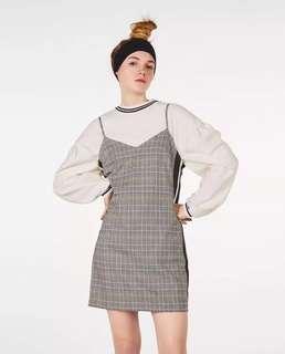 Zara Inspired Grid Slip Dress