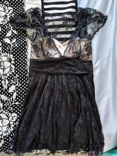 Pilgrim Black Lace Women's Dress Size 12