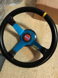 Sparco Genuine Steering Wheel W/HKB boss kit.